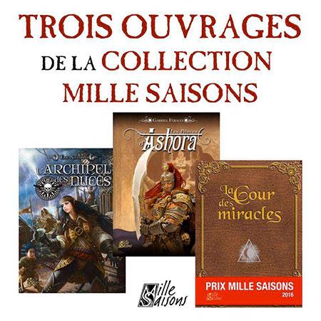 Trois ouvrages de la collection mille saisons