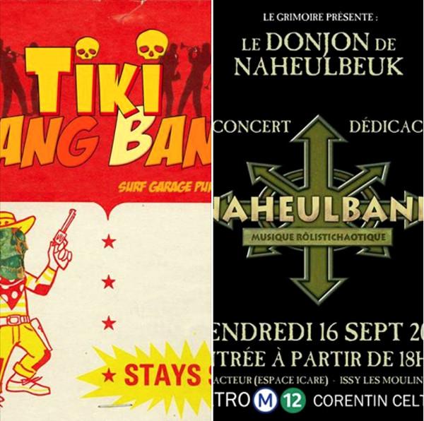NaheulBand et Tiki Bang Bang surf garage punk 60's band